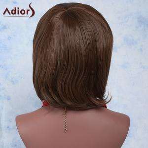 Sweet Short Haircut Synthetic Brown Natural Wave Capless Adiors Wig For Women - BROWN
