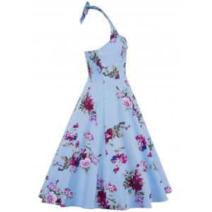 Halter Floral Going Out Swing Dress -