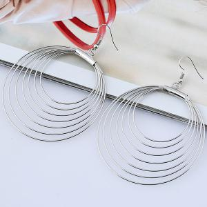 Multilayered Circle Earrings - SILVER