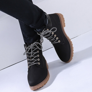 Eyelets Lace Up Short Boots -