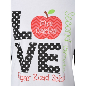 Christmas Raglan Sleeve Love Graphic Tee -