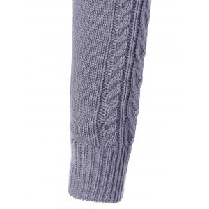 Mock Neck Cable Knit Chunky Sweater -