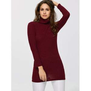Turtleneck Ribbed Jumper -