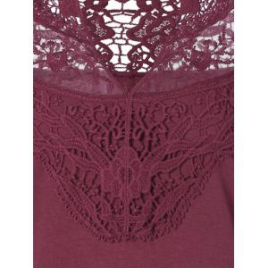 Lace Openwork Long Sleeve Tee -