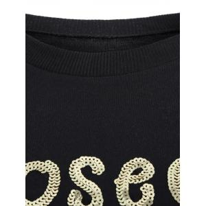 Crew Neck Sequined T-Shirt -