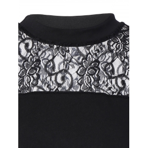Lace Insert Cold Shoulder Tee -