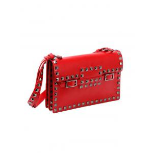 Rivet Buckle Strap Crossbody Bag -
