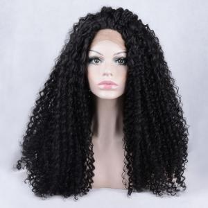 Long Shaggy Kinky Curly Lace Front Synthetic Wig -