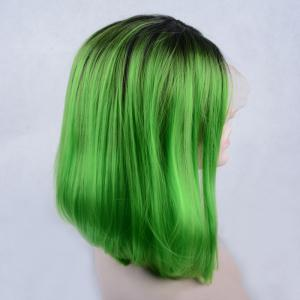 Medium Side Parting Colormix Bob Lace Front Synthetic Wig -