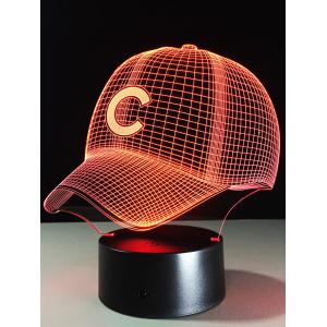 LED Colorful Gradient Touch Switch 3D Baseball Cap Night Light - Colorful