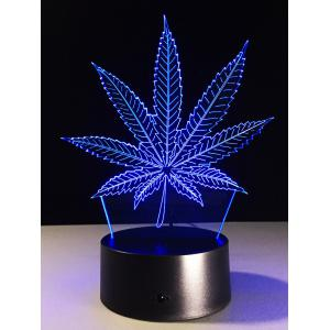 3D Visual 7 Color Change LED Leaf Touch Switch Night Light -