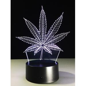 3D Visual 7 Color Change LED Leaf Touch Switch Night Light - COLORFUL
