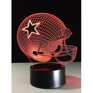 Best Gift 7 Color Changing LED Rugby Touch 3D Kids Night Light - Colorful - S