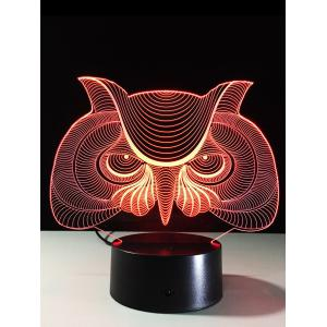 LED Colorful Gradient Touch Switch 3D Visual Owl Night Light
