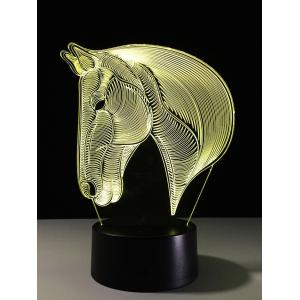 7 Color Changing LED 3D Horse Touch Atmosphere Night Light - Colorful