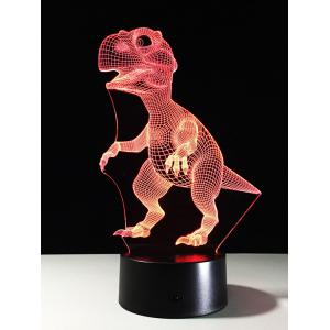 Best Gift 7 Color Changing LED Dinosaur Touch 3D Night Light - Colorful - Eu Plug