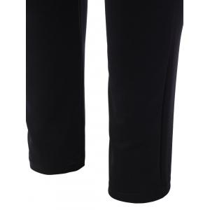 Plus Size Contrast Jacket and Pants Twinset -