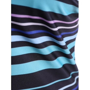 Plus Size Stripe Moulded Tankini Set -