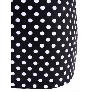 Plus Size Polka Dot Moulded Swimwear -