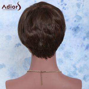 Handsome Short Full Bang Straight Synthetic Wig - BROWN