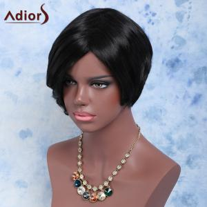 Towheaded Short Side Bang Straight Synthetic Wig -