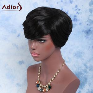 Short Full Bang Slightly Curled Synthetic Wig -