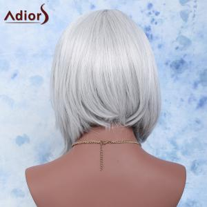Medium Side Parting Straight Ombre Synthetic Wig -