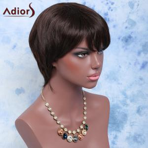 Short Side Bang Straight Synthetic Wig -