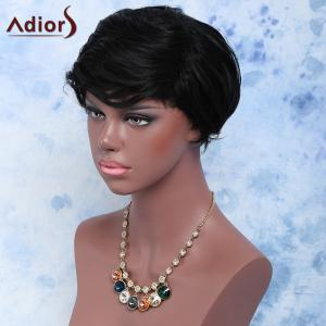 Short Pixie Cut Fluffy Curly Synthetic Wig -