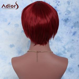 Short Straight Full Bang Capless Synthetic Wig -