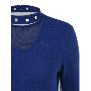 Eyelet Decorated Cut Out Knitwear -