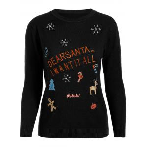 Christmas Embroidered Knitted Sweater