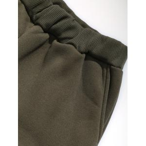 Faux Fur Pocket Hoodie with Track Pants - ARMY GREEN 2XL
