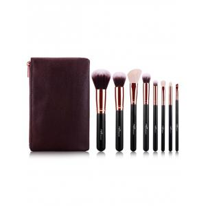 8 pcs Fiber Makeup Brushes Kit + Brush Egg -