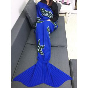 Tortoise Starfish Home Decor Knitted Mermaid Blanket Throw