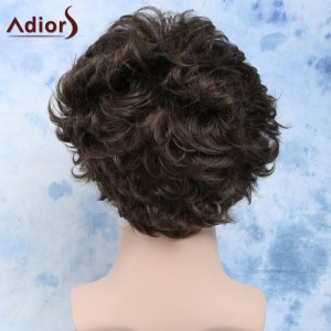 Curly Manly Short Heat Resistant Fiber Men's Wig -