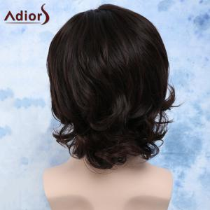 Side Bang Synthetic Fluffy Wavy Anti Alice Hair Men's Wig - DEEP BROWN