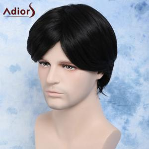 Handsome Straight Synthetic Short Side Bang Men's Wig -