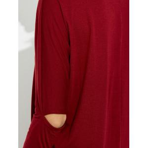 V  Neck Cutout Dolman Sleeve Tee Dress -