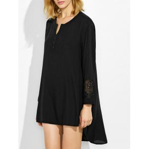 Lace Crochet High Low Dress