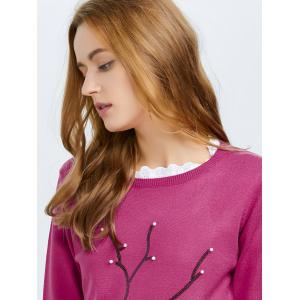 Sequin Knit Pullover Sweater -