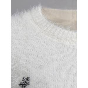 Christmas Pullover Fuzzy Sweater -