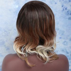 Meidum Side Parting Color Mixed Wavy Synthetic Wig -