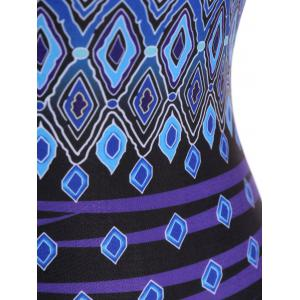 Plus Size Geometric Print Criss Cross Swimwear -