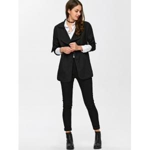 Notch Lapel Trench Coat -
