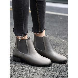 Round Toe Elastic Ankle Boots -
