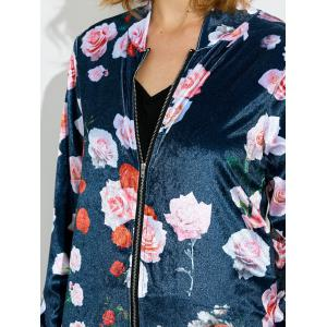 Zippered Jacket and Floral Printed Pants -
