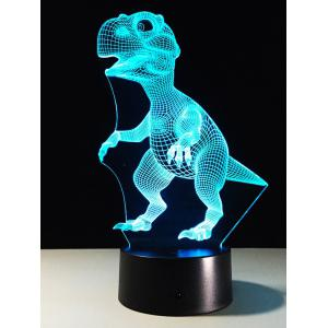 Best Gift 7 Color Changing LED Dinosaur Touch 3D Night Light -