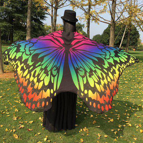 New Colorful Ombre Butterfly Wing Chiffon Cape COLORFUL
