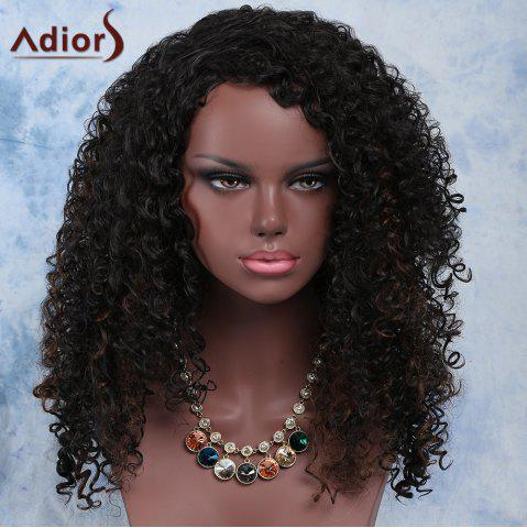 Outfits Fashion Long Synthetic Fluffy Dark Brown Mixed Curly Adiors Wig For Women COLORMIX